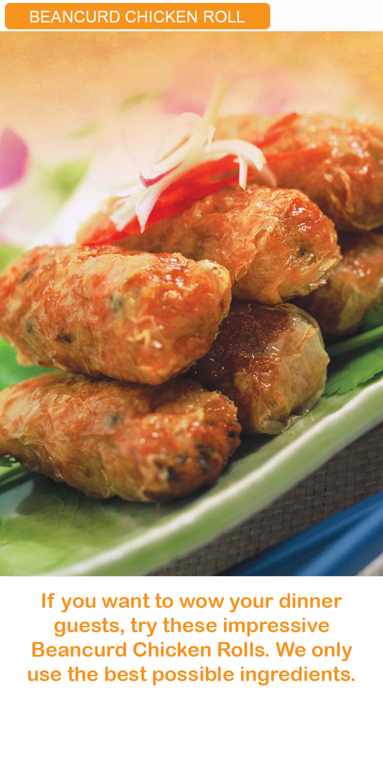 Beancurd Chicken Roll