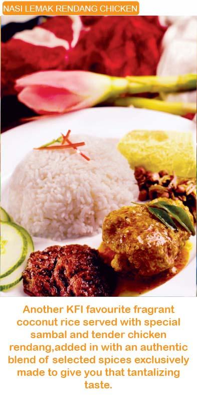 Nasi Lemak rendang chicken kfi RTE sri kulai kinabalu food industries signature products malaysia  microwavable in minutes MEALS