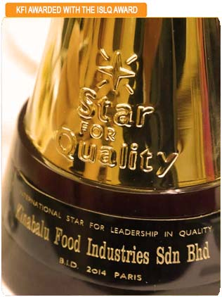 NEWS & PROMOTION KFI rte meals sri kulai kinabalu food industriws award islq paris leadership quality international