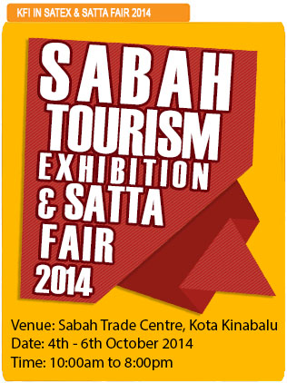 Sabah tourism exhibition dsata fair 2014 kfi kinabalu food industries sri kulai k signature sata satex